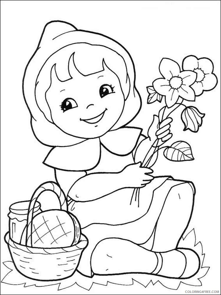 Little Red Riding Hood Coloring Pages Cartoons little red riding hood 12 Printable 2020 3869 Coloring4free
