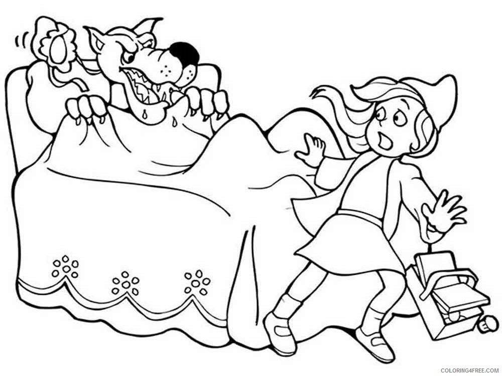 Little Red Riding Hood Coloring Pages Cartoons little red riding hood 13 Printable 2020 3870 Coloring4free