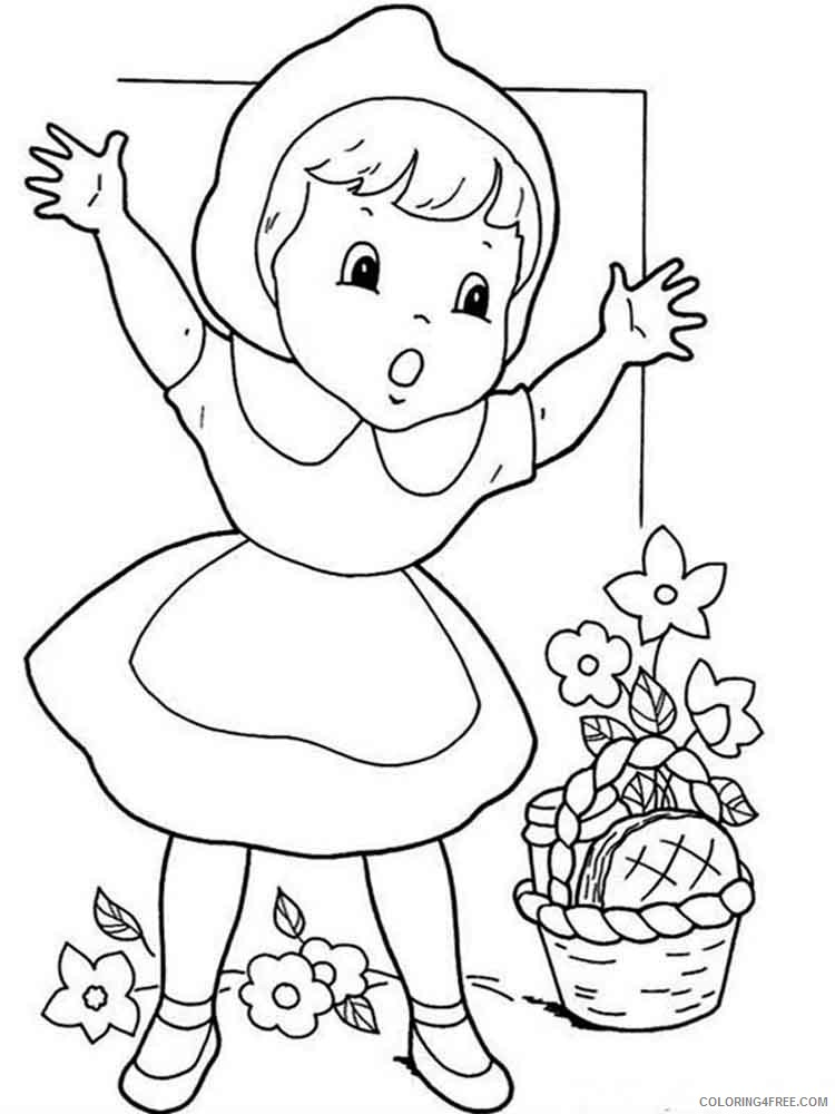 Little Red Riding Hood Coloring Pages Cartoons little red riding hood 3 Printable 2020 3871 Coloring4free
