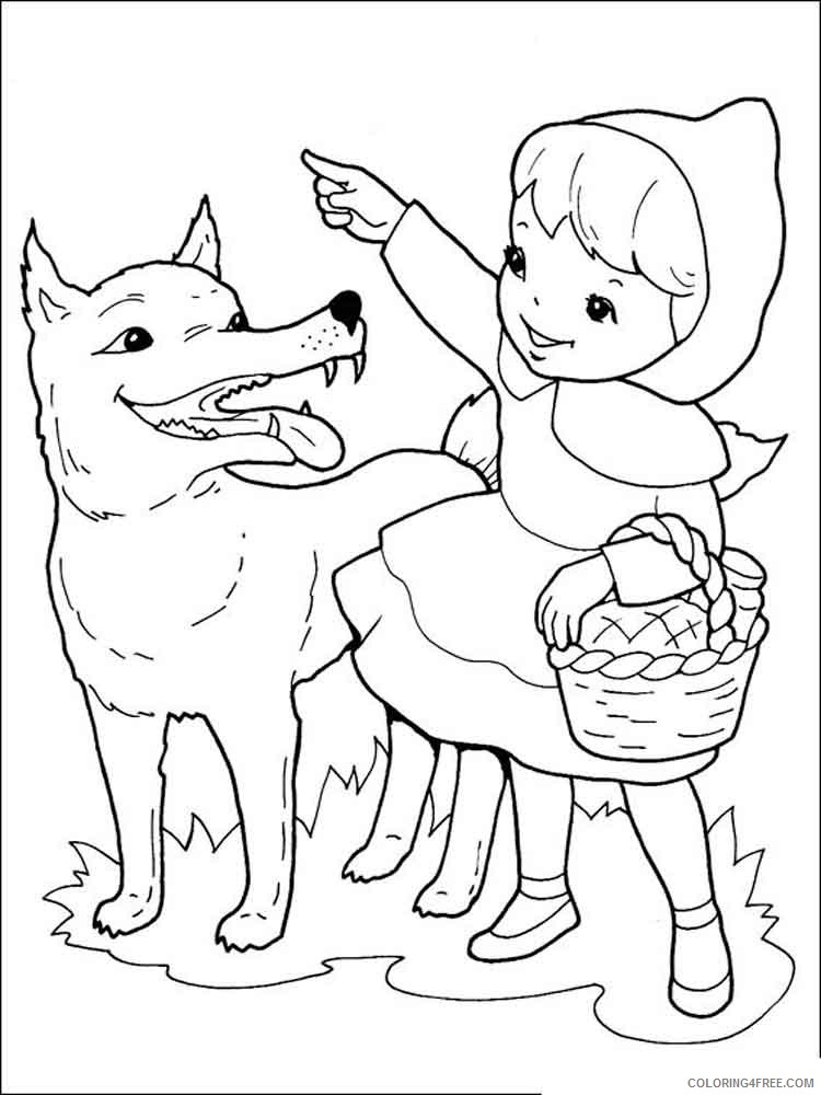 Little Red Riding Hood Coloring Pages Cartoons little red riding hood 4 Printable 2020 3872 Coloring4free
