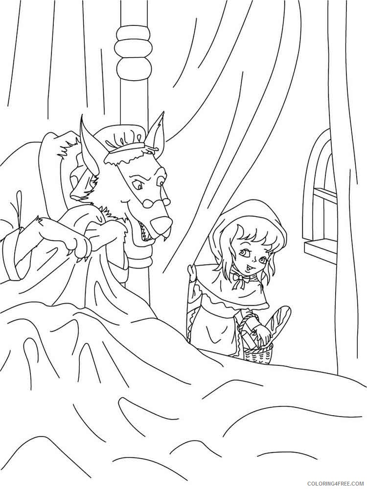 Little Red Riding Hood Coloring Pages Cartoons little red riding hood 9 Printable 2020 3876 Coloring4free