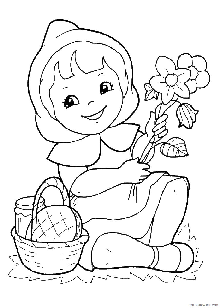 Little Red Riding Hood Coloring Pages Cartoons little_red_ridinghood_05 Printable 2020 3853 Coloring4free