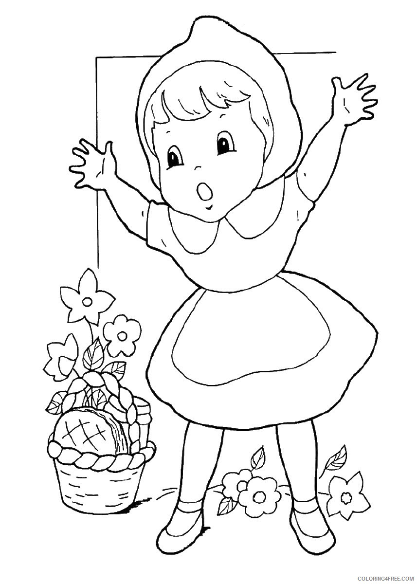 Little Red Riding Hood Coloring Pages Cartoons little_red_ridinghood_08 Printable 2020 3855 Coloring4free