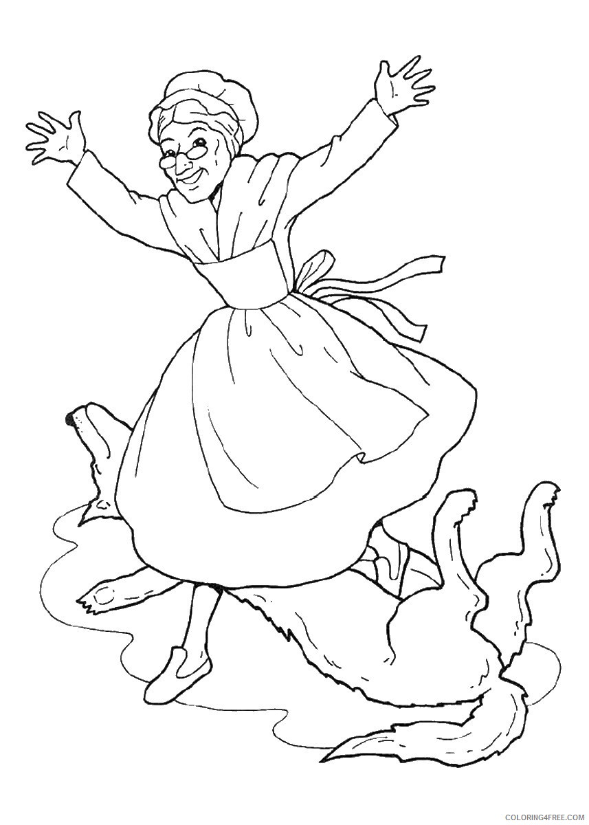 Little Red Riding Hood Coloring Pages Cartoons little_red_ridinghood_09 Printable 2020 3856 Coloring4free