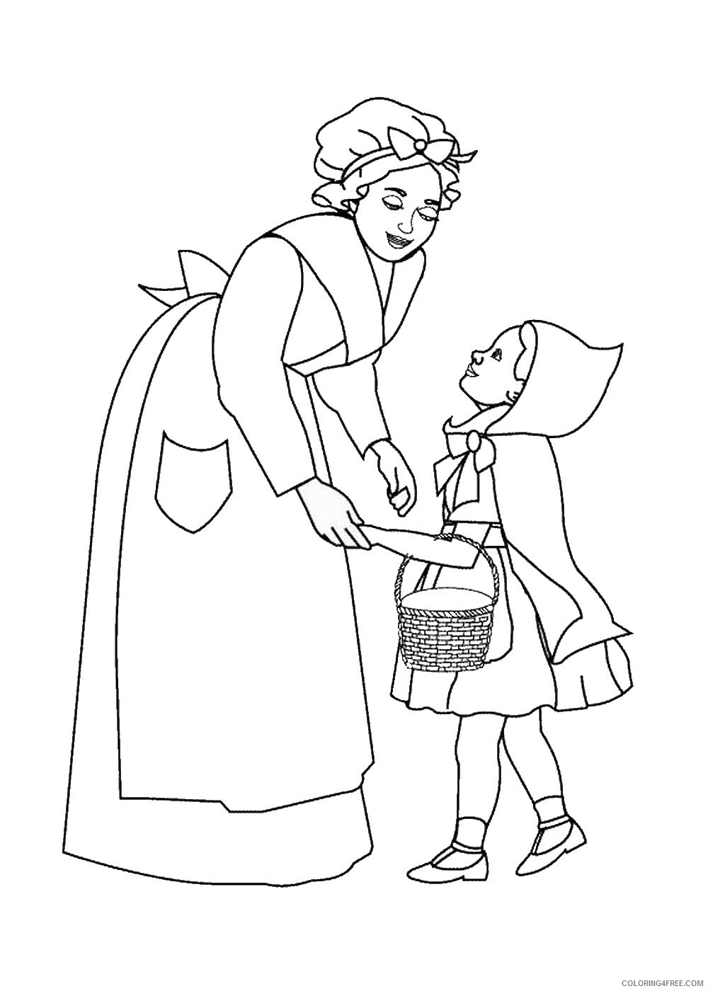 Little Red Riding Hood Coloring Pages Cartoons little_red_ridinghood_11 Printable 2020 3857 Coloring4free