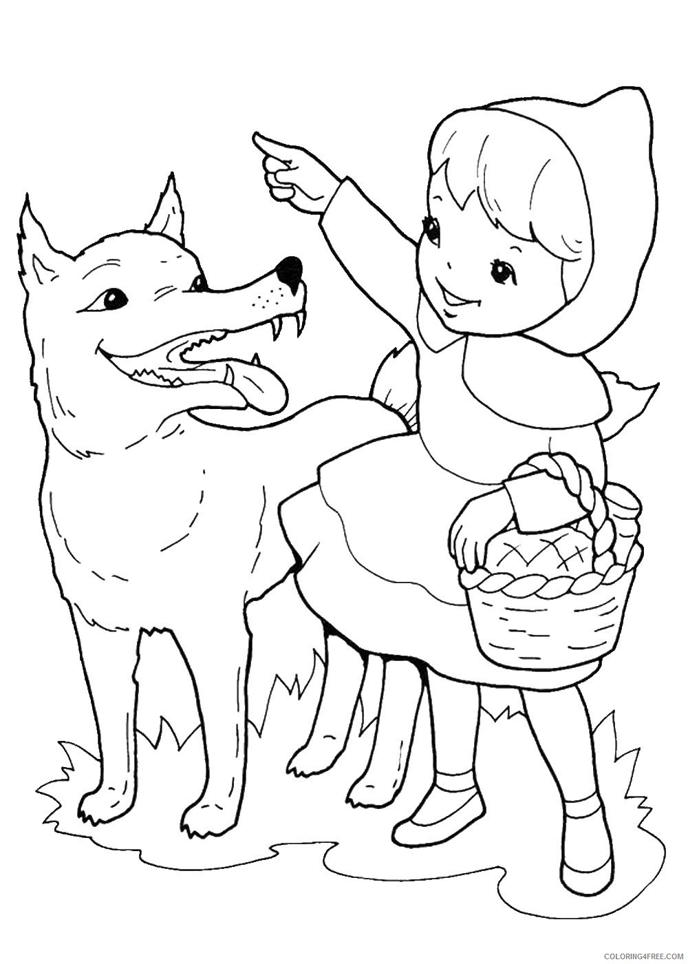 Little Red Riding Hood Coloring Pages Cartoons little_red_ridinghood_12 Printable 2020 3858 Coloring4free