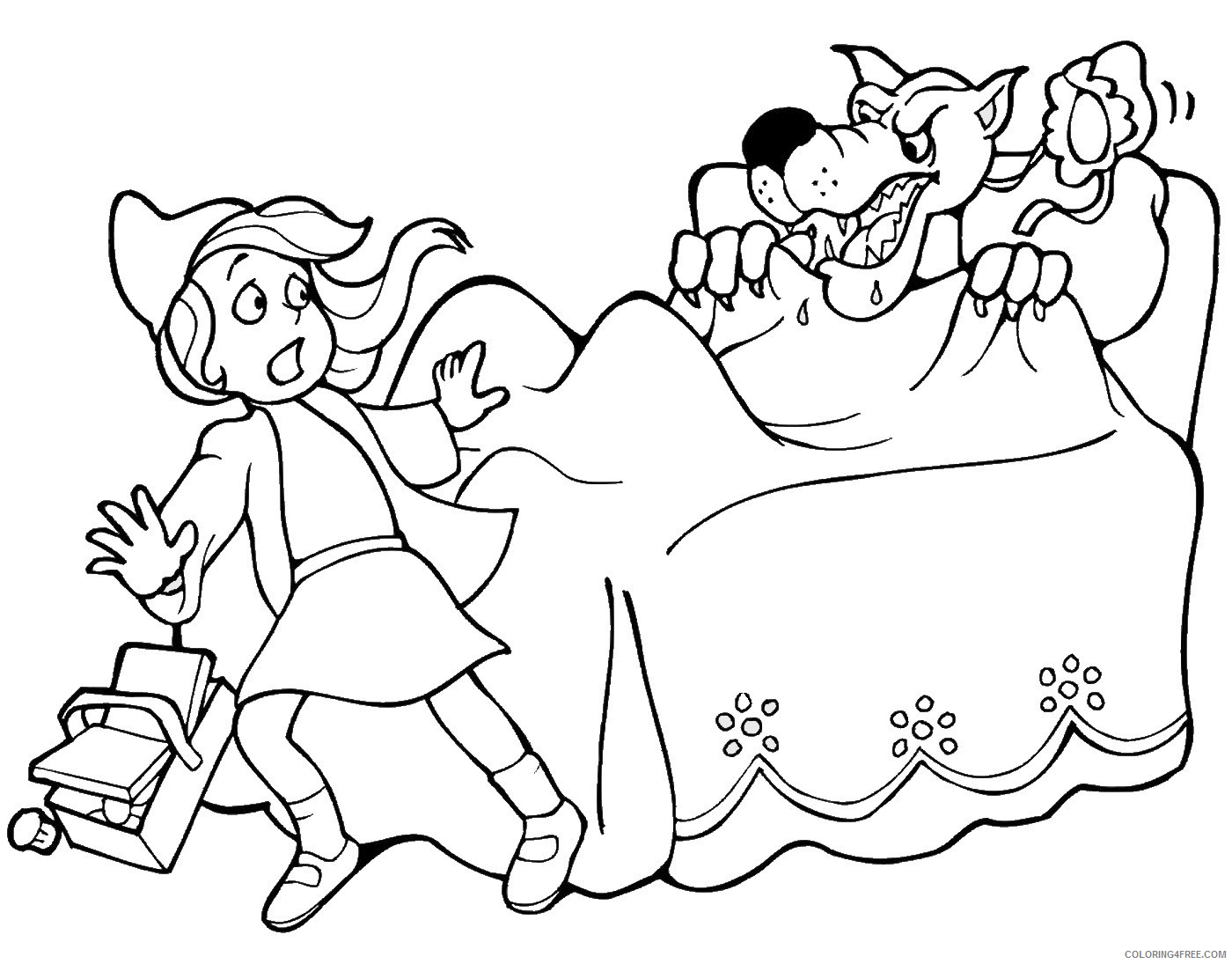 Little Red Riding Hood Coloring Pages Cartoons little_red_ridinghood_20 Printable 2020 3859 Coloring4free