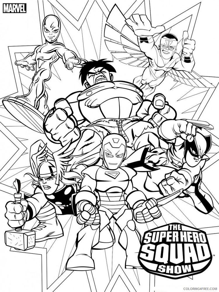 Marvel Superhero Coloring Pages Superheroes Printable 2020 Coloring4free -  Coloring4Free.com