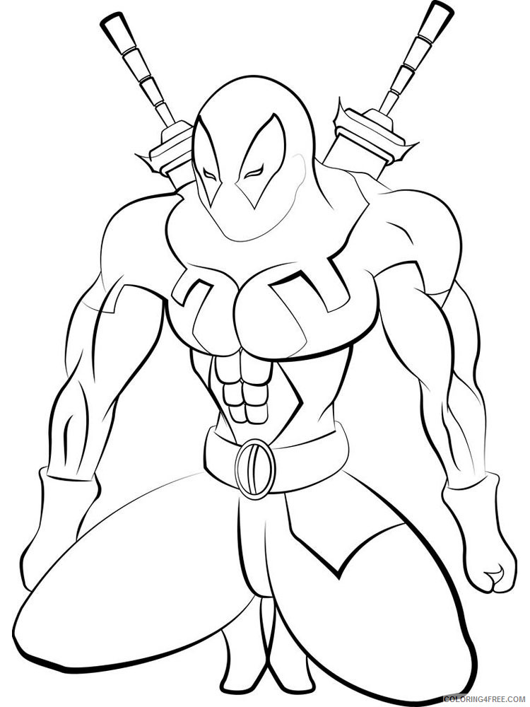 Marvel Superhero Coloring Pages Superheroes Printable 2020 Coloring4free