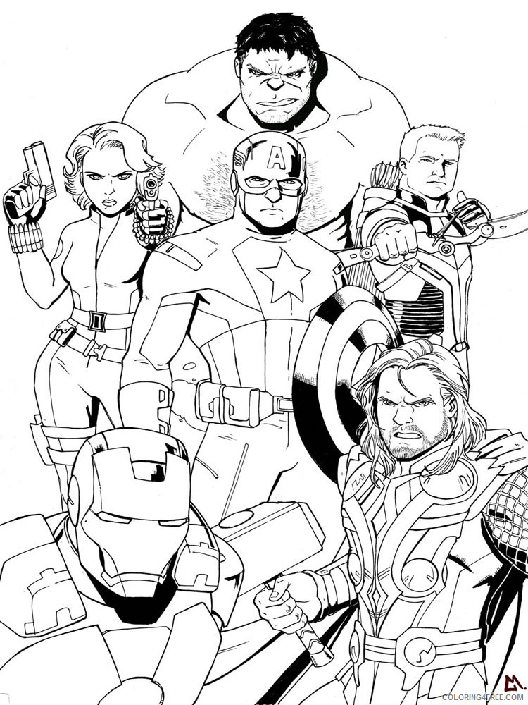 Marvel Superhero Coloring Pages Superheroes Printable 2020 Coloring4free -  Coloring4Free.com