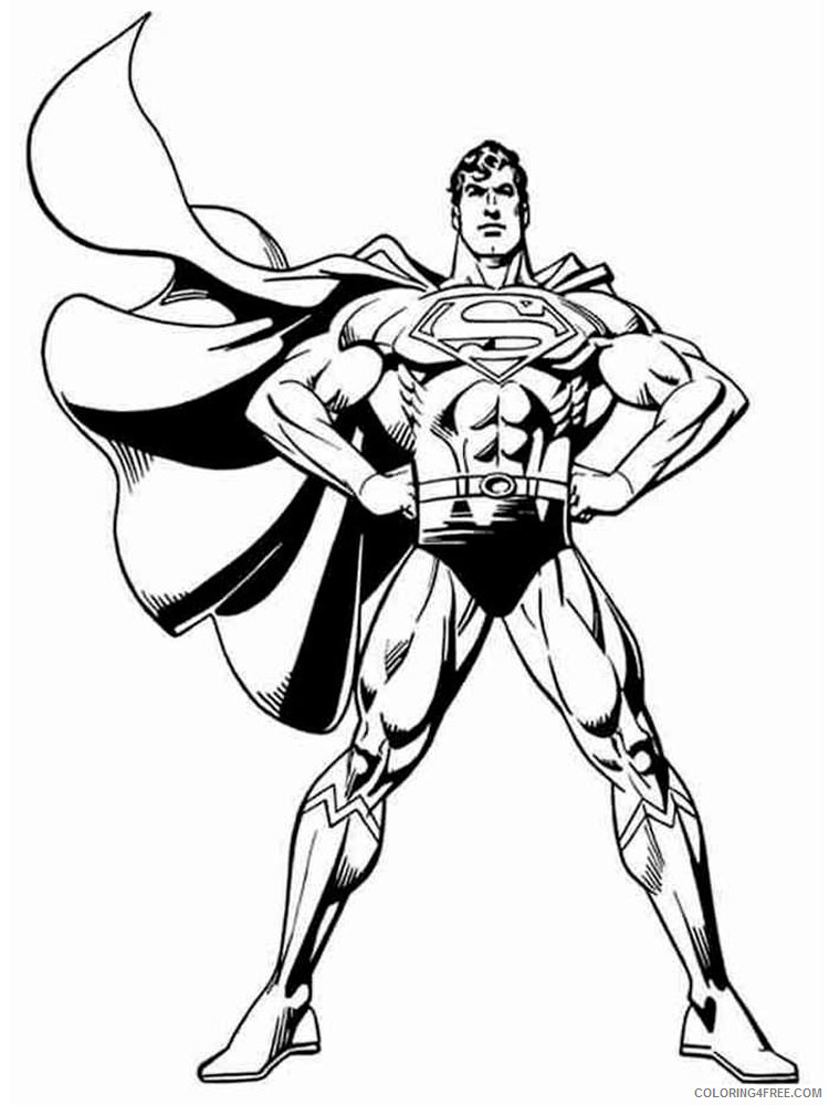 Marvel Superhero Coloring Pages Superheroes Printable 2020 Coloring4free