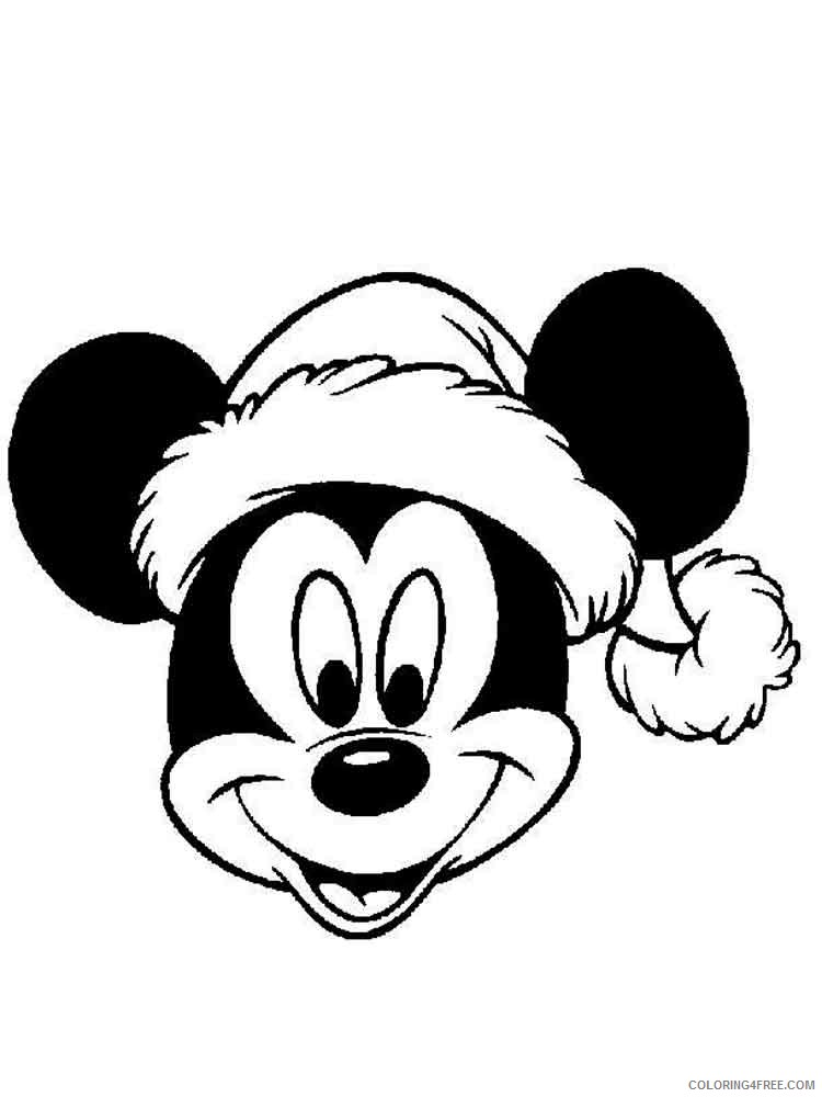 Mickey Mouse Christmas Coloring Pages Cartoons Mickey Mouse Christmas 11  Printable 2020 4168 Coloring4free - Coloring4Free.com