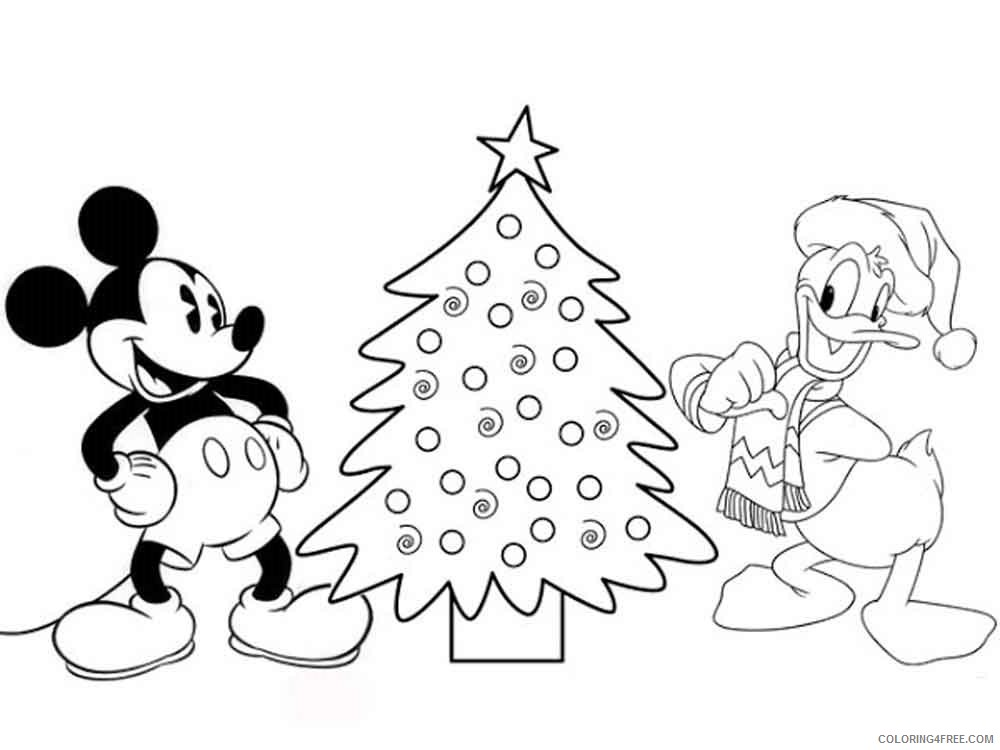 - Mickey Mouse Christmas Coloring Pages Cartoons Mickey Mouse Christmas 18  Printable 2020 4172 Coloring4free - Coloring4Free.com