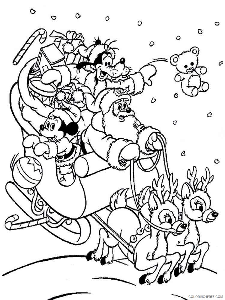 Mickey Mouse Christmas Coloring Pages Cartoons Mickey Mouse Christmas 5  Printable 2020 4175 Coloring4free - Coloring4Free.com