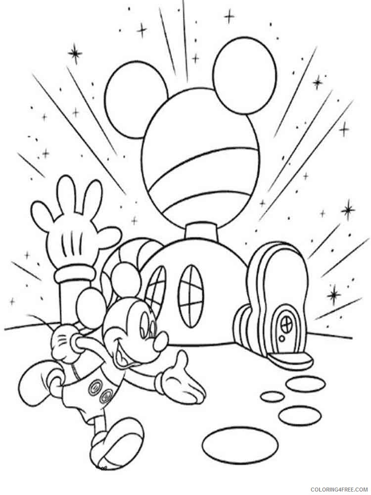 - Mickey Mouse Clubhouse Coloring Pages Cartoons Disney Mickey Mouse Clubhouse  2 Printable 2020 4185 Coloring4free - Coloring4Free.com