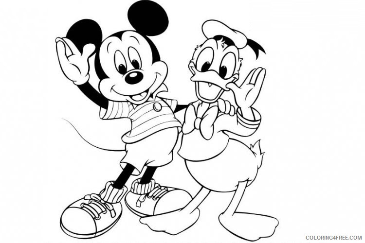 Mickey Mouse Coloring Pages Cartoons Mickey Mouse And Donald Duck Printable 2020 4099 Coloring4free Coloring4free Com