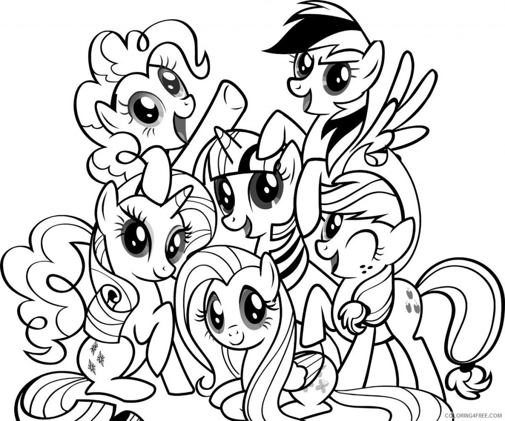 My Little Pony Coloring Pages Cartoons Free My Little Pony Rainbow Dash Printable 2020 4440 Coloring4free Coloring4free Com