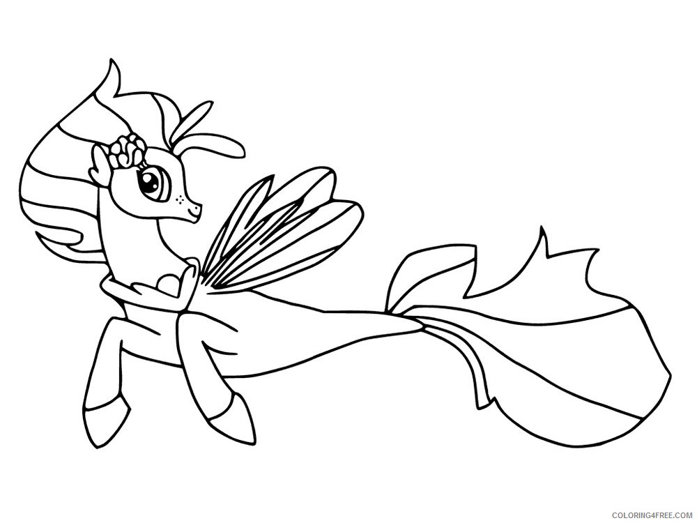 - My Little Pony Coloring Pages Cartoons My Little Pony Mermaid 1 Printable  2020 4565 Coloring4free - Coloring4Free.com