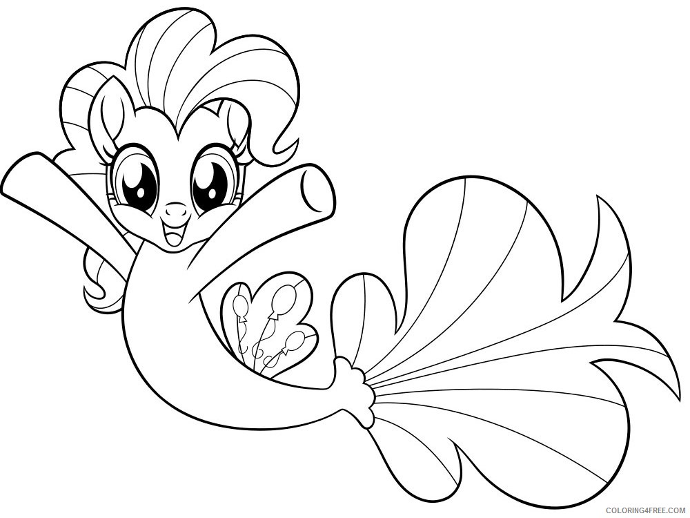 My Little Pony Coloring Pages Cartoons My Little Pony Mermaid 10 Printable  2020 4566 Coloring4free - Coloring4Free.com