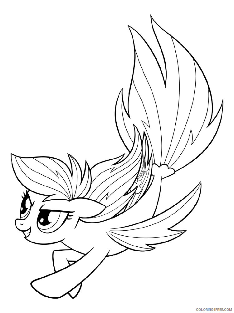 My Little Pony Coloring Pages Cartoons My Little Pony Mermaid 8 Printable  2020 4569 Coloring4free - Coloring4Free.com