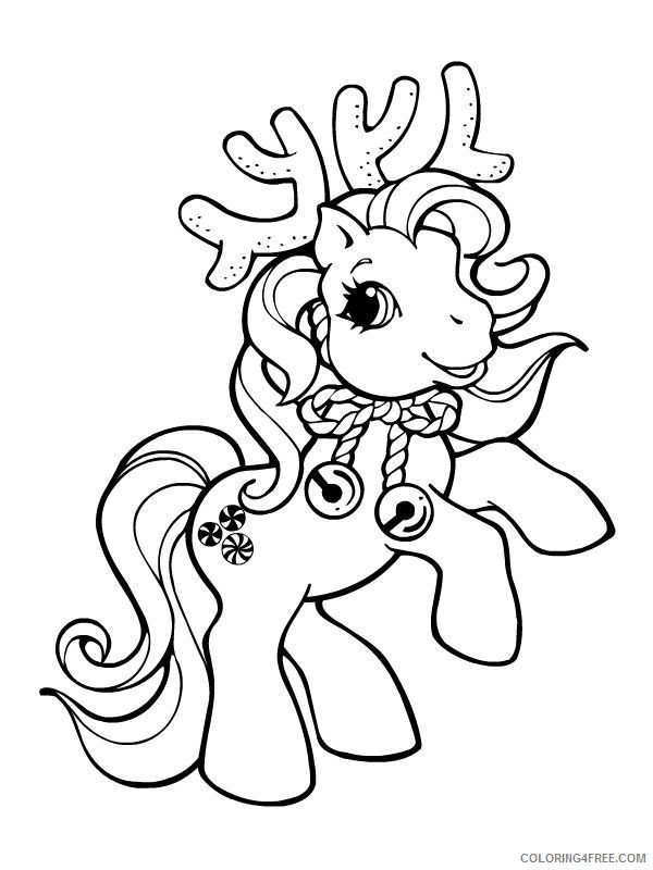 My Little Pony Coloring Pages Cartoons My Little Pony Reindeer Christmas Printable 2020 4581 Coloring4free Coloring4free Com