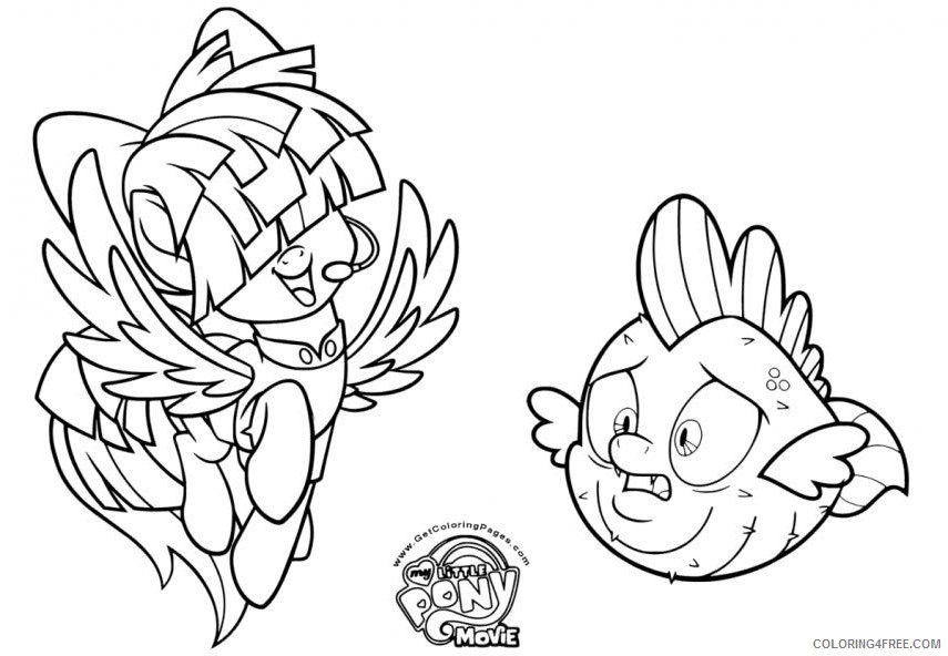 My Little Pony Coloring Pages Cartoons My Little Pony Der Film JPtTY  Printable 2020 4532 Coloring4free - Coloring4Free.com