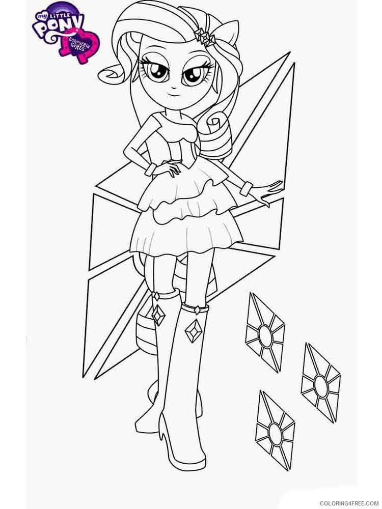 My Little Pony Coloring Pages Cartoons My Little Pony Equestria Girls 14  Printable 2020 4542 Coloring4free - Coloring4Free.com