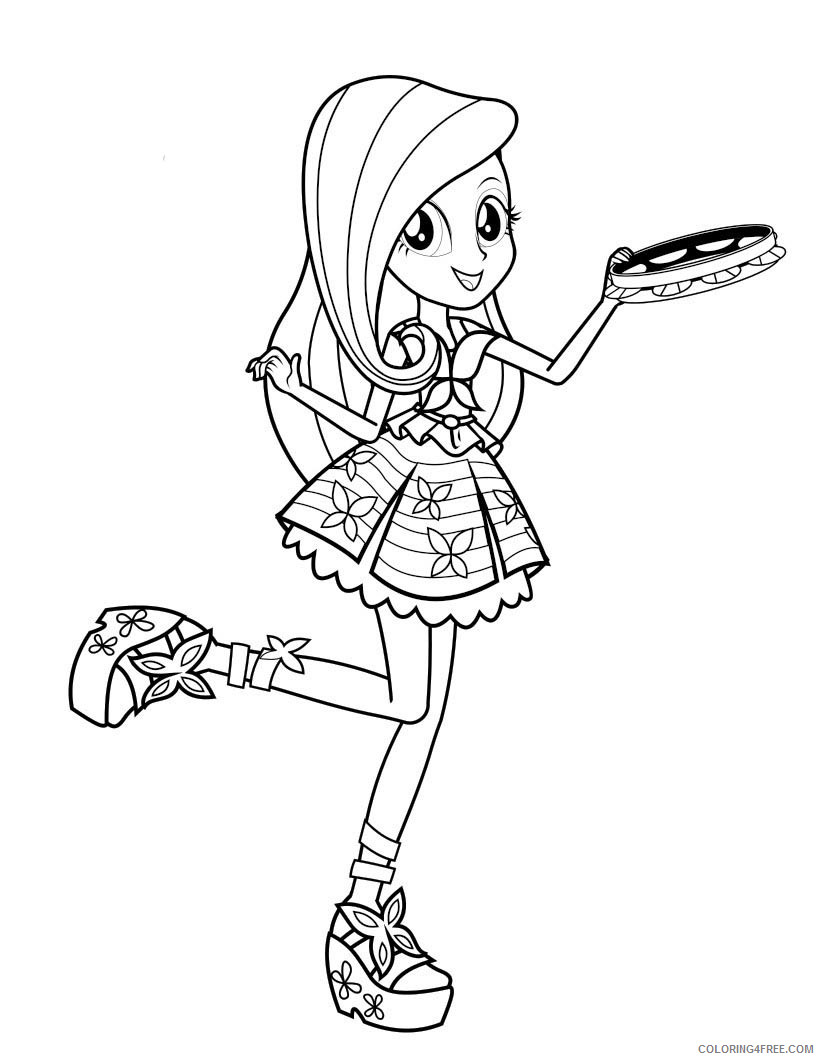 My Little Pony Equestria Girls Coloring Pages Cartoons Free Equestria Girls Printable 2020 4606 Coloring4free Coloring4free Com