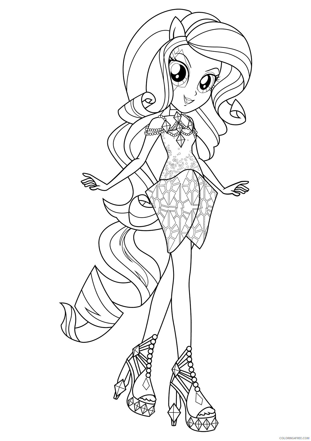 My Little Pony Equestria Girls Coloring Pages Cartoons Print Equestria Girls Printable 2020 4615 Coloring4free Coloring4free Com