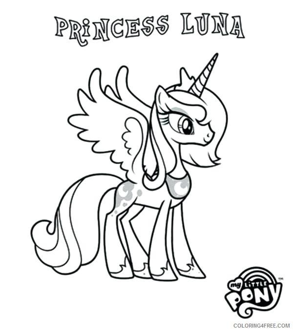 - My Little Pony Princess Luna Coloring Pages Cartoons MLP Princess Luna  Printable 2020 4619 Coloring4free - Coloring4Free.com