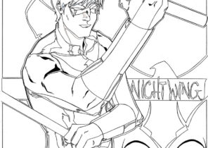 Nightwing Coloring Pages - Coloring4Free.com
