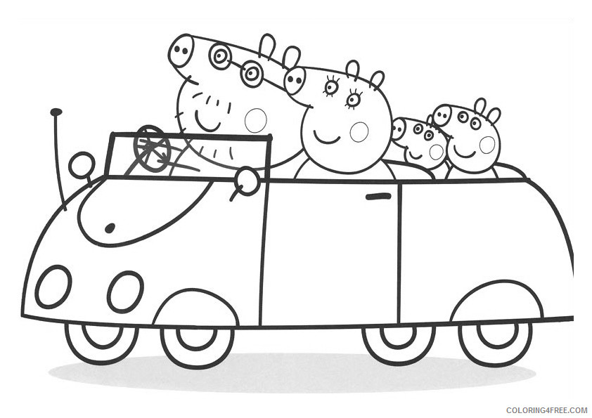 Peppa Pig Coloring Pages Cartoons Peppa Family Pictures Printable 2020 4829 Coloring4free Coloring4free Com