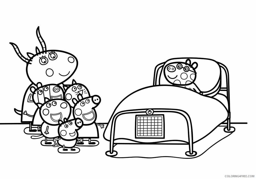 Peppa Pig Coloring Pages Cartoons Peppa Pig Friends Printable 2020 4862 Coloring4free Coloring4free Com
