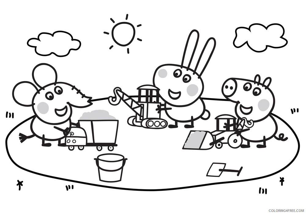 Peppa Pig Coloring Pages Cartoons Peppa Playground Printable 2020 4871 Coloring4free Coloring4free Com