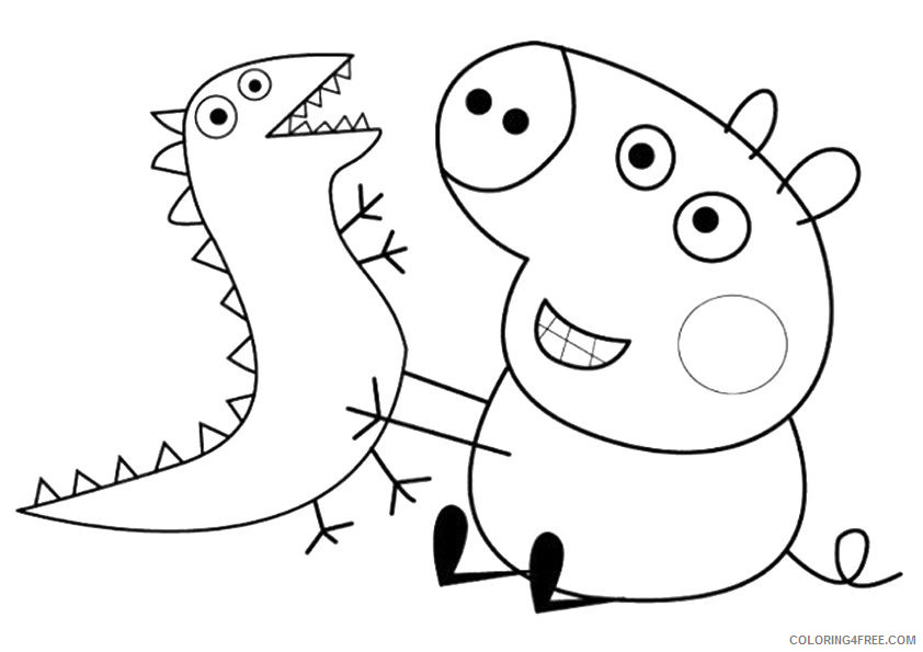 Peppa Pig Coloring Pages Cartoons Peppaear Printable 2020 4826 Coloring4free Coloring4free Com