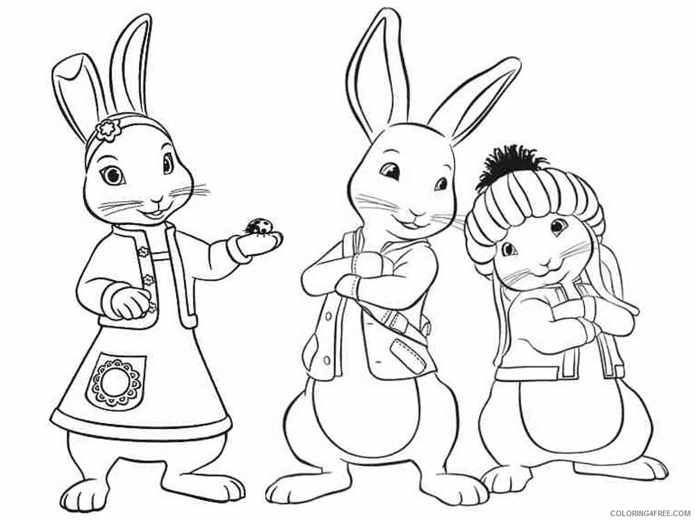 Peter Rabbit Coloring Pages Cartoons Peter Rabbit 9 Printable 2020 4906  Coloring4free - Coloring4Free.com