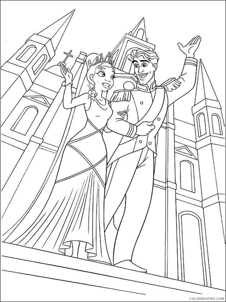 Princess Tiana Coloring Pages Cartoons Princess Tiana 9 Printable 2020 5156 Coloring4free Coloring4free Com