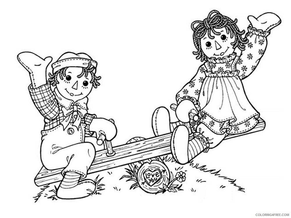 Raggedy Ann And Andy Coloring Pages Cartoons Raggedy Ann And Andy 2  Printable 2020 5232 Coloring4free - Coloring4Free.com