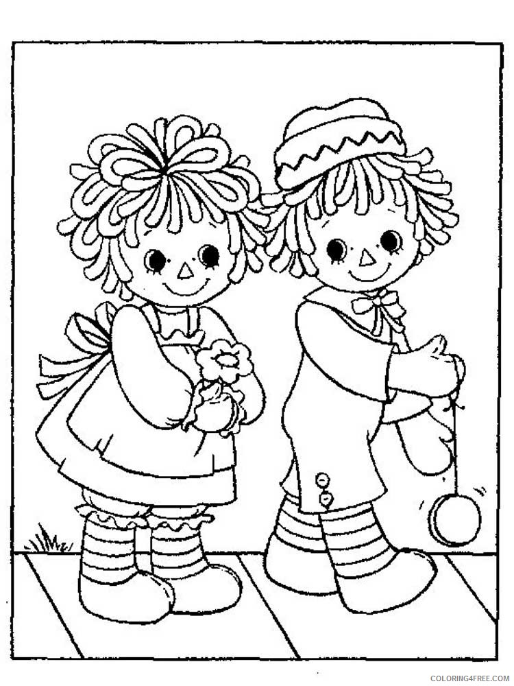 Raggedy Ann And Andy Coloring Pages Cartoons Raggedy Ann And Andy 7  Printable 2020 5235 Coloring4free - Coloring4Free.com