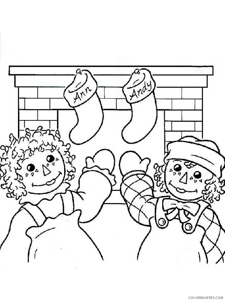 Raggedy Ann And Andy Coloring Pages Cartoons Raggedy Ann And Andy 9  Printable 2020 5237 Coloring4free - Coloring4Free.com