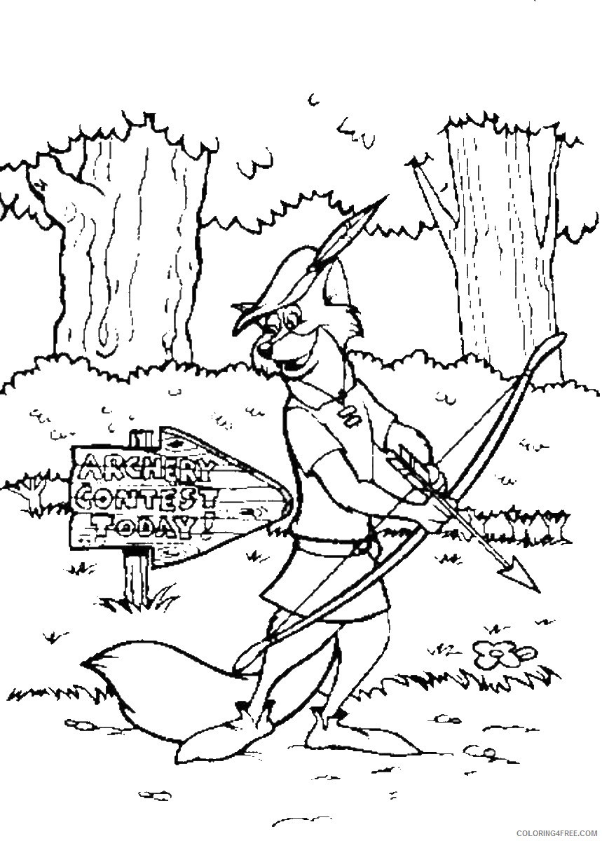 Robin Hood Coloring Pages Cartoons Robin Hood Cl22 Printable 2020 5358 Coloring4free Coloring4free Com