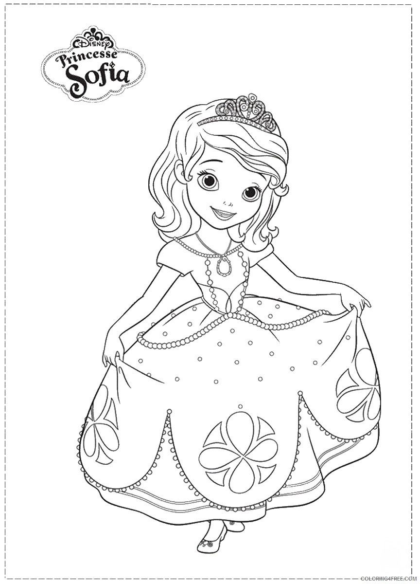 Sofia the First Coloring Pages Cartoons Sofia_the_First_coloring_14 Printable 2020 5844 Coloring4free
