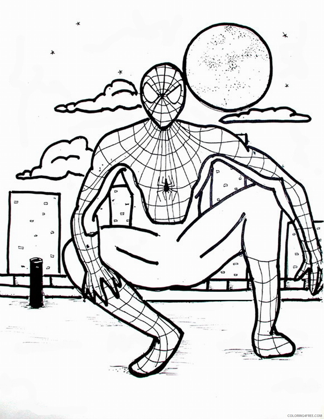 Spider Man Coloring Pages Superheroes Printable 2020 Coloring4free