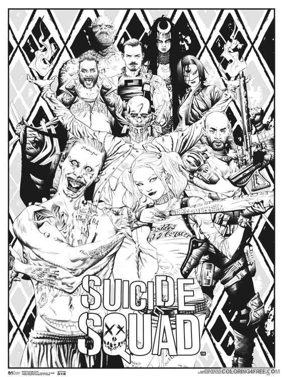 Suicide Squad Coloring Pages Cartoons Color Suicide Squad Printable 2020 6070 Coloring4free
