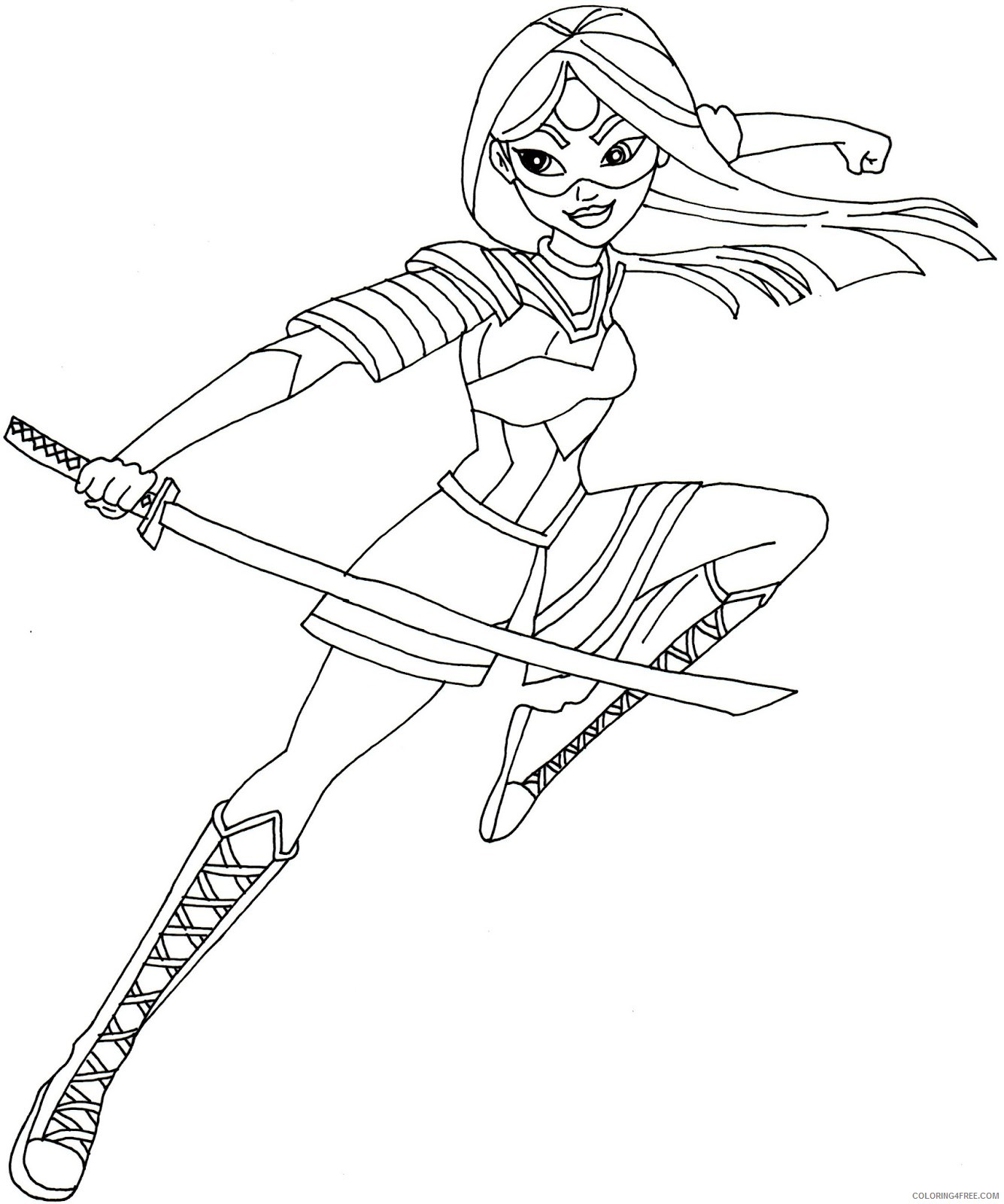 Suicide Squad Coloring Pages Cartoons Katana Suicide Squad Printable 2020 6072 Coloring4free