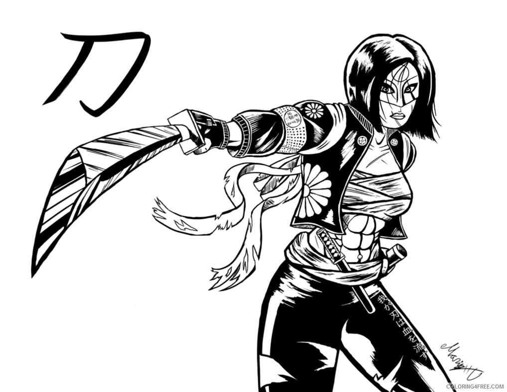 Suicide Squad Coloring Pages Cartoons Samurai Katana Suicide Squad Printable 2020 6075 Coloring4free