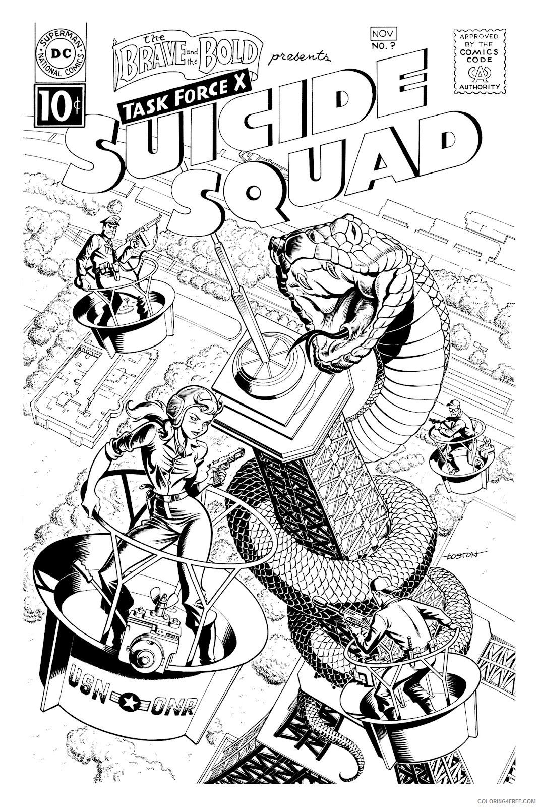 Suicide Squad Coloring Pages Cartoons Suicide Squad Printable 2020 6076 Coloring4free