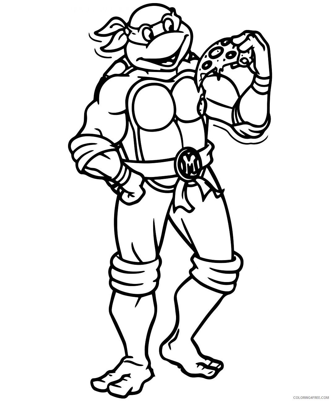 Teenage Mutant Ninja Turtles Coloring Pages Cartoons Amazing Cool Inspiring Design Printable 2020 Coloring4free Coloring4free Com