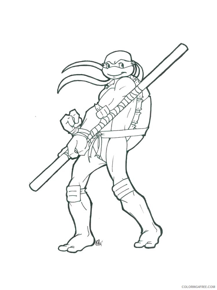 - Teenage Mutant Ninja Turtles Coloring Pages Cartoons Donatello 15 Printable  2020 6199 Coloring4free - Coloring4Free.com