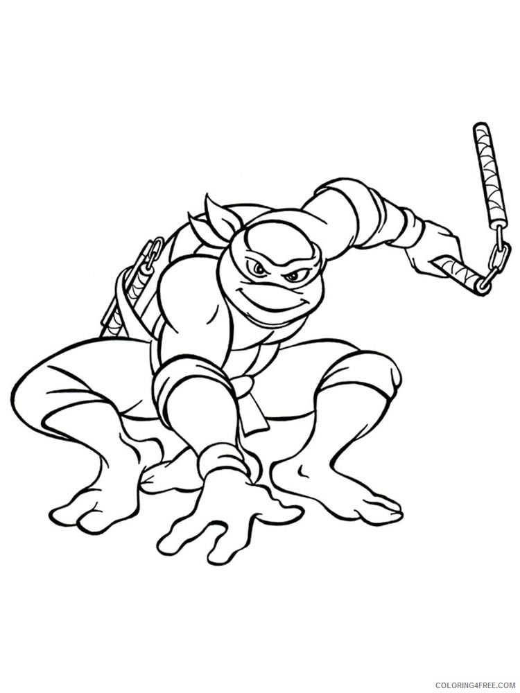 - Teenage Mutant Ninja Turtles Coloring Pages Cartoons Michelangelo 16  Printable 2020 6235 Coloring4free - Coloring4Free.com